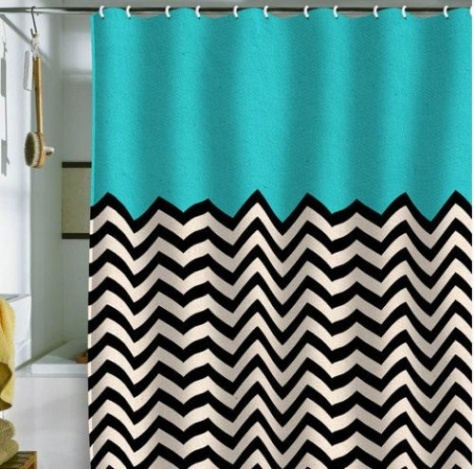 We don't intend to have shower curtains, but how cute is this!?